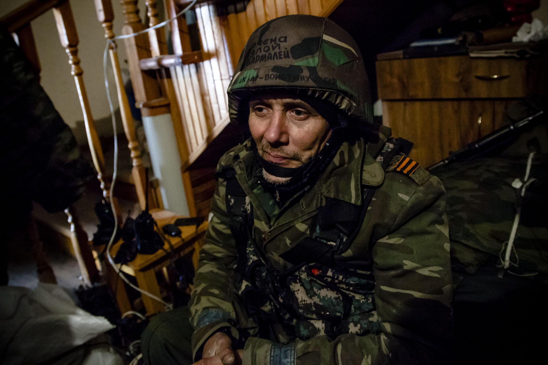 Uno de los soldados con más experiencia del batallón