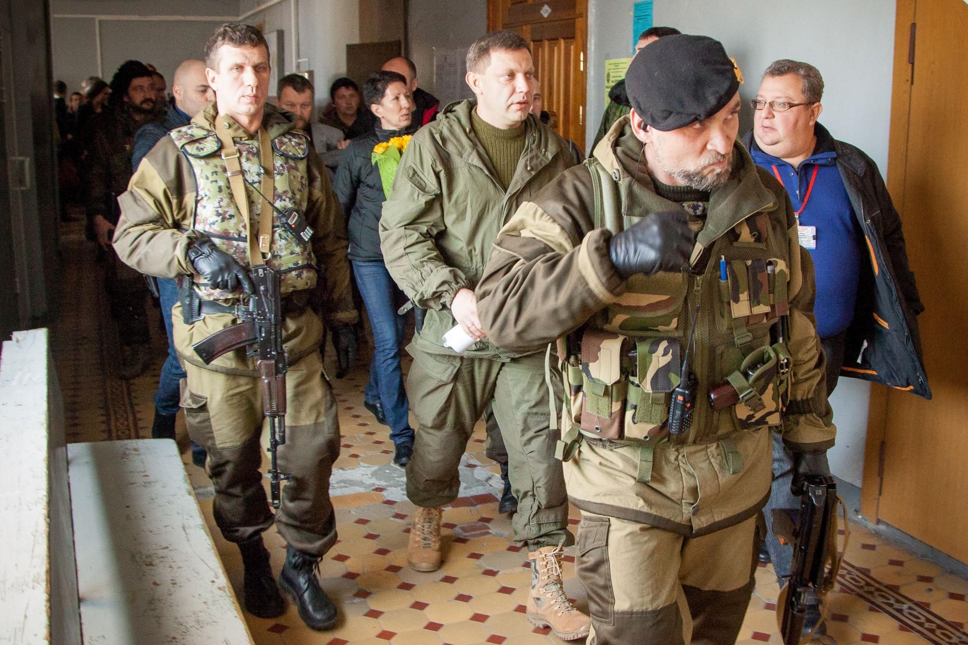 Alexánder Vladimirovich Zajárchenko, actual Jefe de Estado y Primer Ministro de la República Popular de Donetsk
