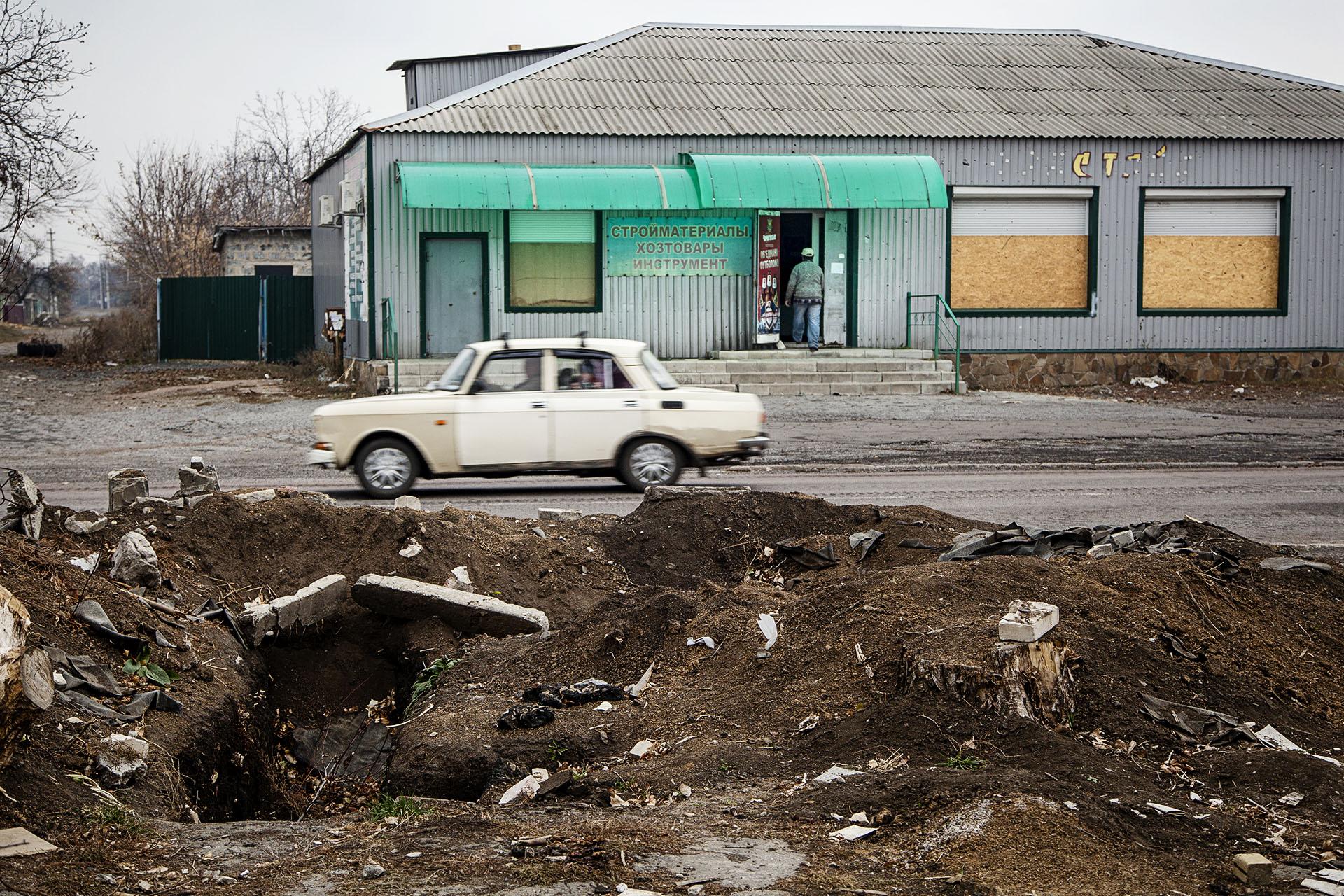 En Ilovaisk, una ciudad próxima a Donetsk, la lucha fue encarnizada