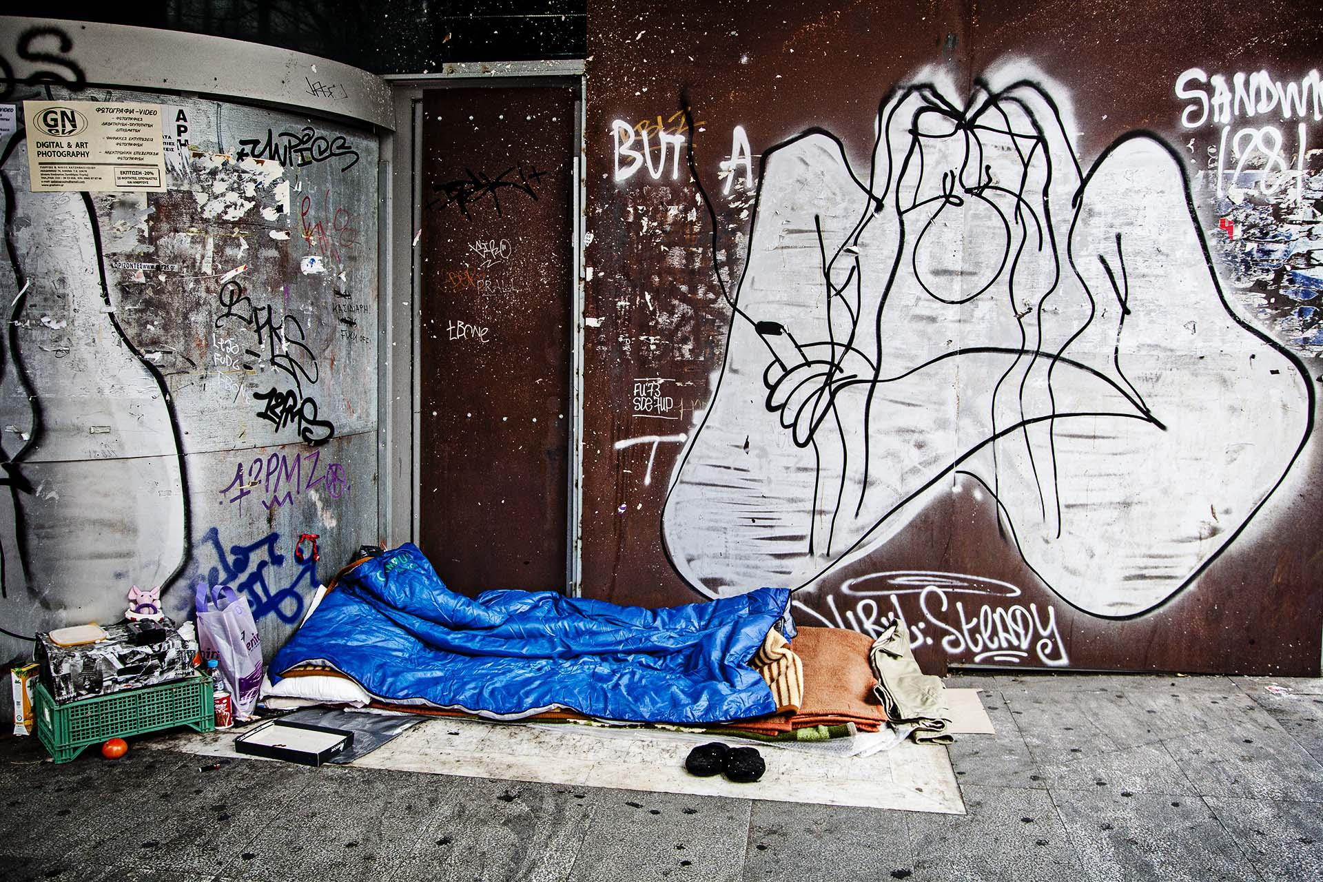 Desde el inicio de la crisis mas gente se ve obligada a dormir en la calle