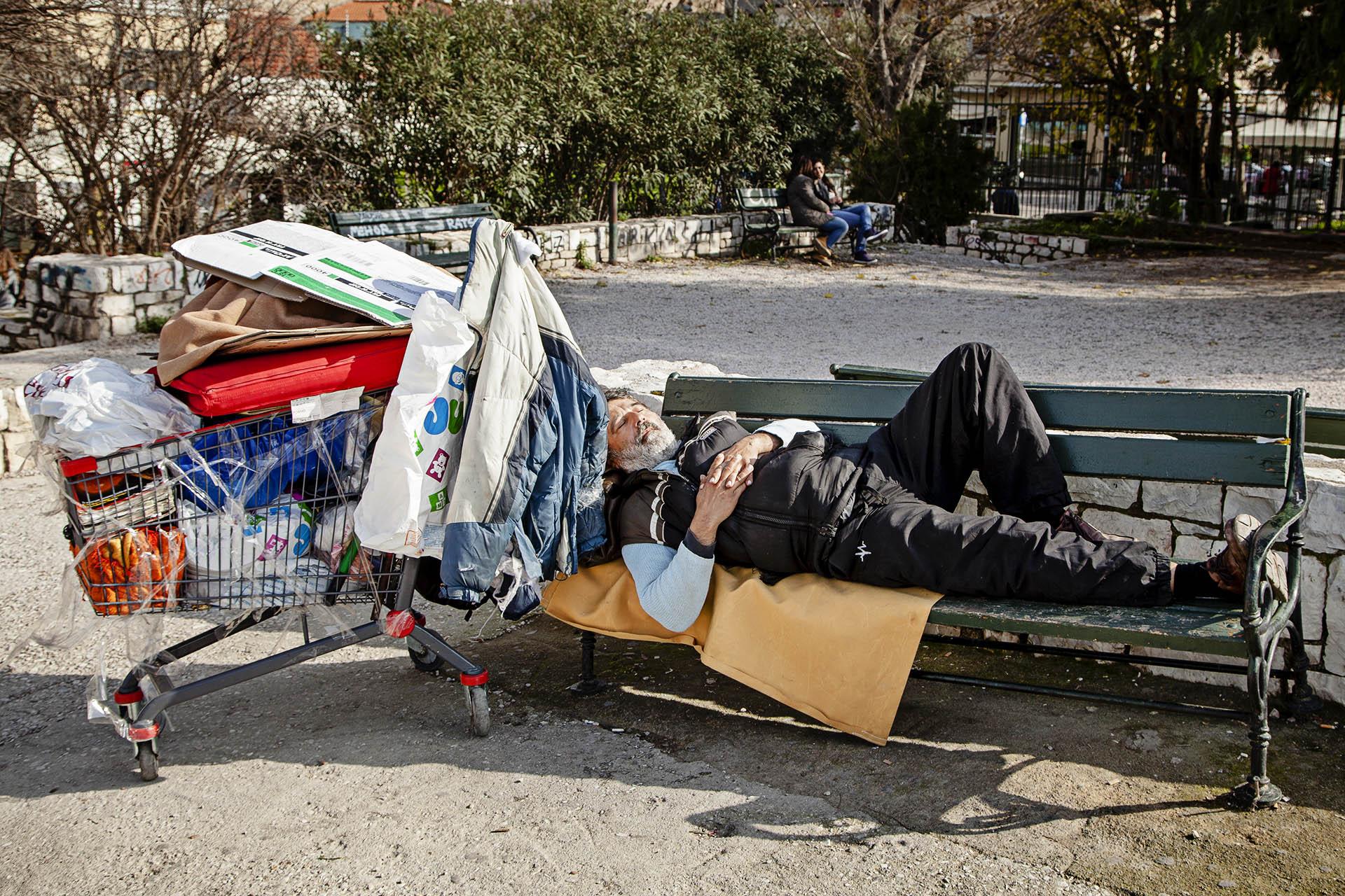Mucha gente lo ha perdido todo desde el comienzo de la crisis
