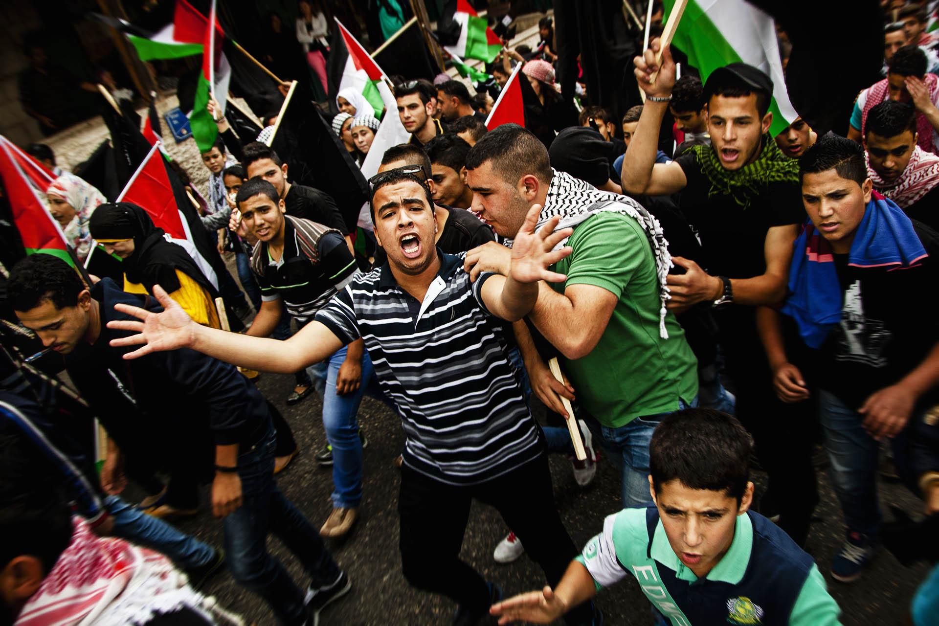 Las protestas son habituales en los Territorios Palestinos Ocupados...