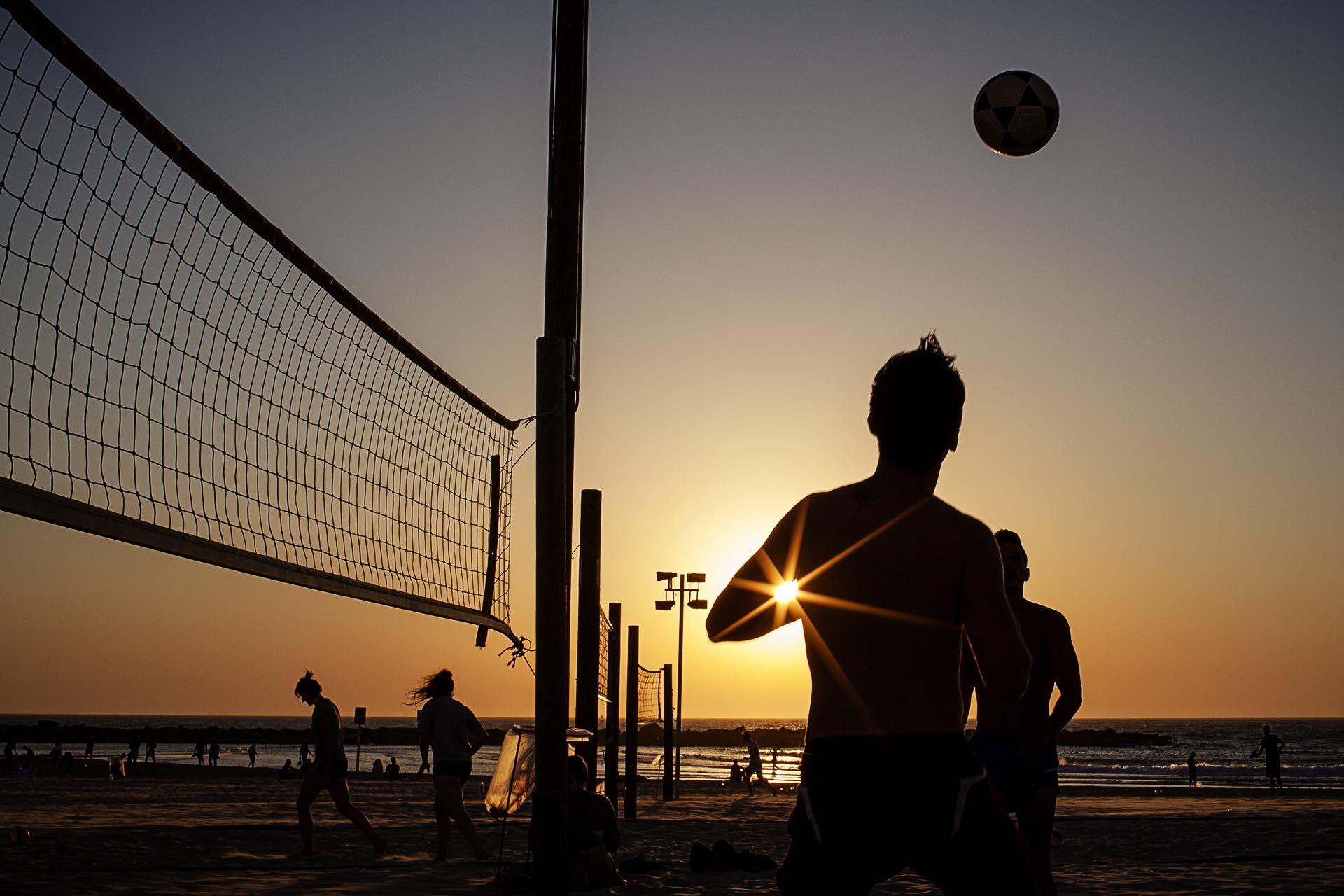 Atardecer en Banana Beach, Tel Aviv.