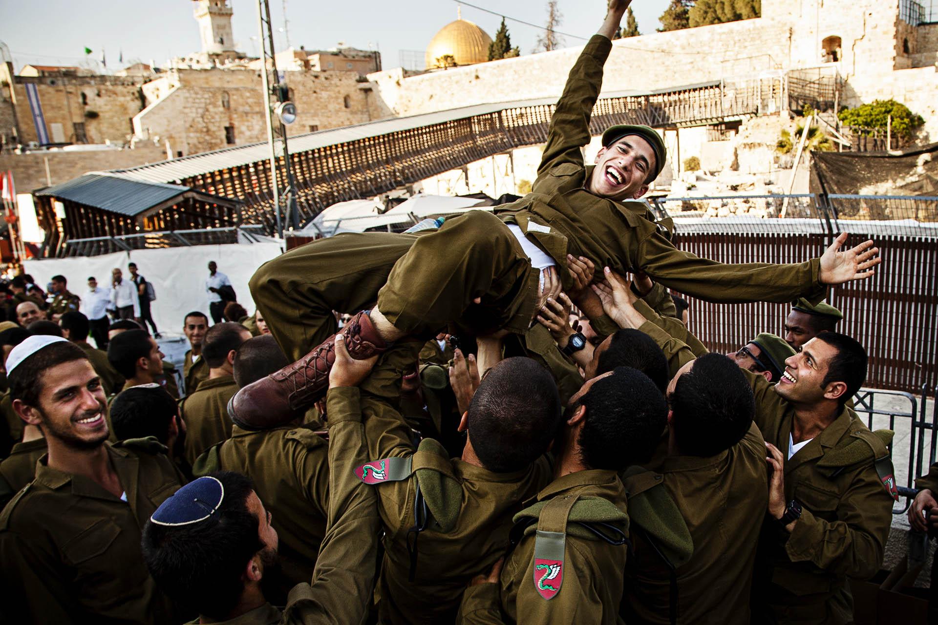 Celebración de graduación militar, Jerusalem.