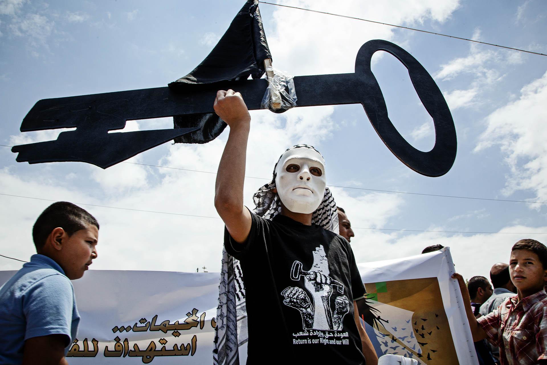 """15 de mayo de 2015, día de la Naqba (""""catástrofe"""" en árabe), que conmemora el exilio y desposesión en el que viven hoy más de 5 millones de palestinos."""