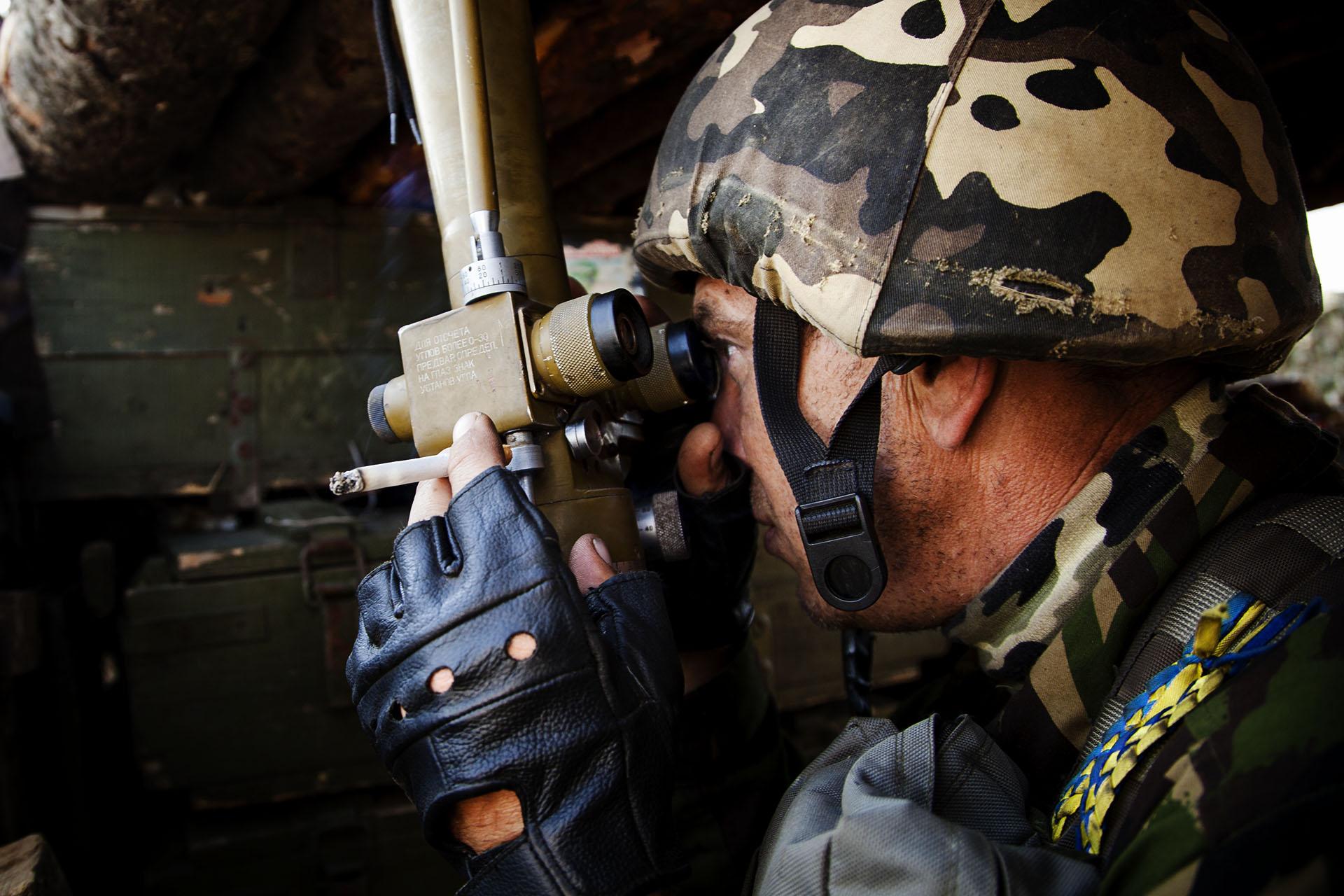 La observación de los movimientos del enemigo es la principal rutina en el frente / (Artemovsk).