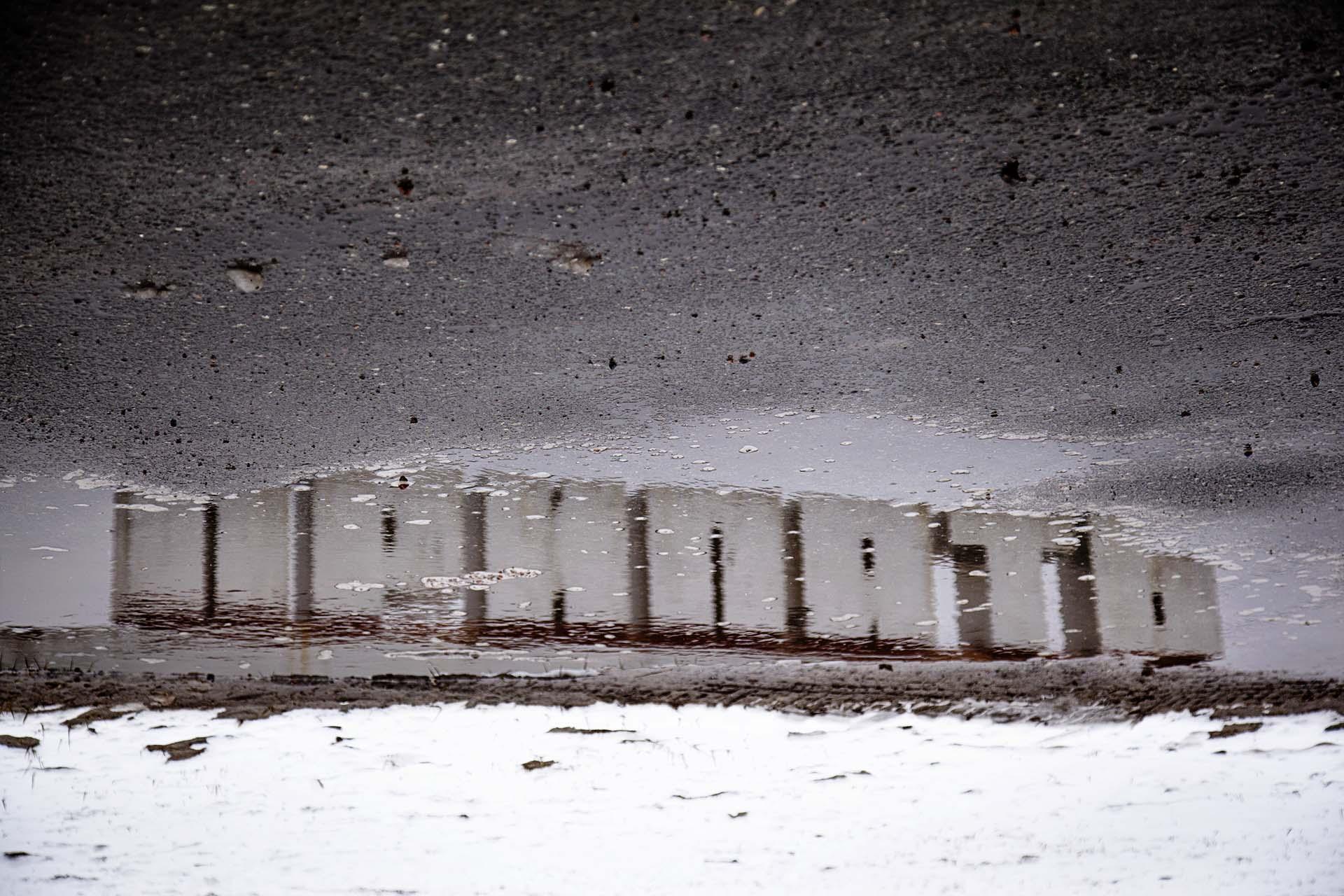 Cartel de entrada a la ciudad nuclear abandonada de Pripyat.