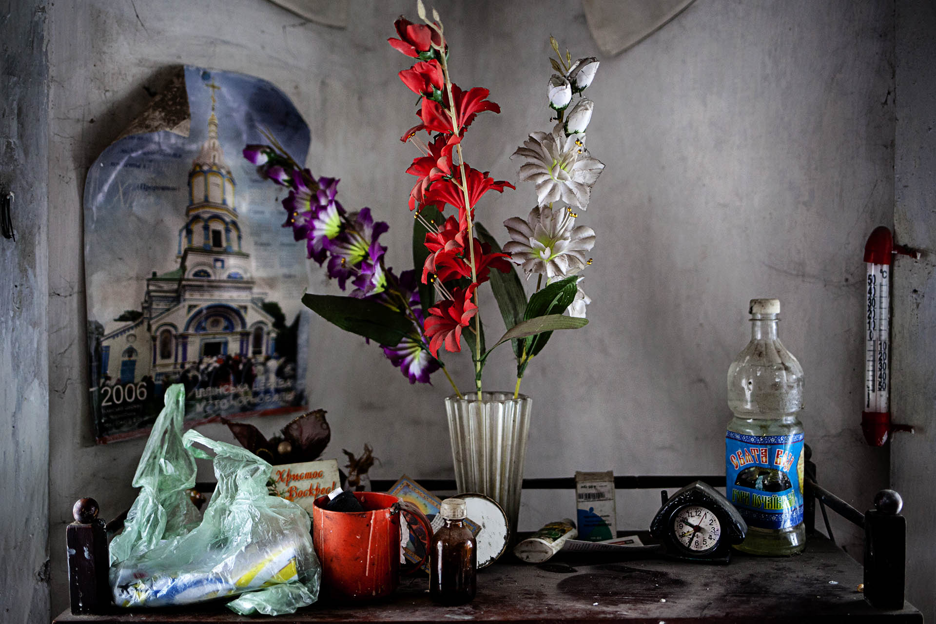 Interior de la casa de Rosalía, habitante de la Zona, muerta pocos meses antes de nuestra visita.