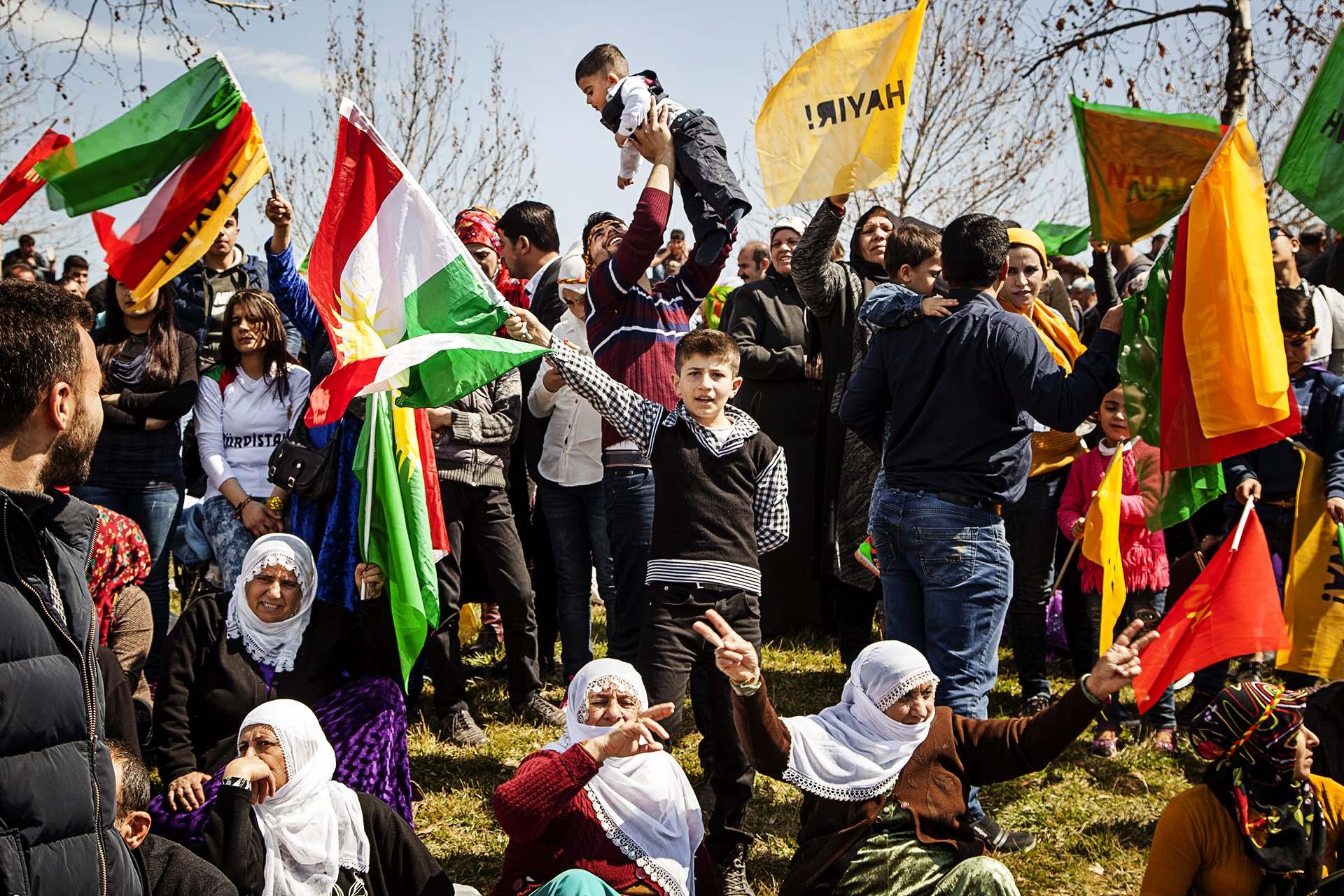 Celebración del año nuevo kurdo (Newroz) en Diyarbakir.