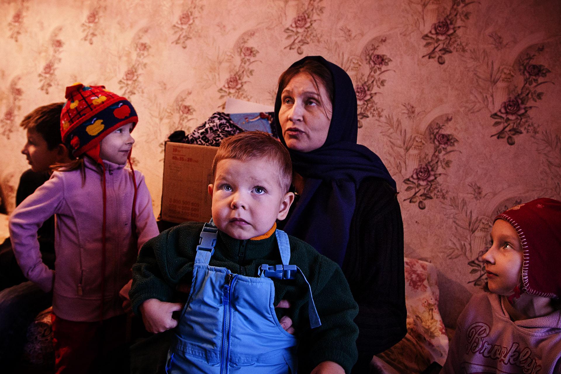 En él vive gente a la que la guerra se lo arrebató todo, como a Tatyana y sus 6 hijos.