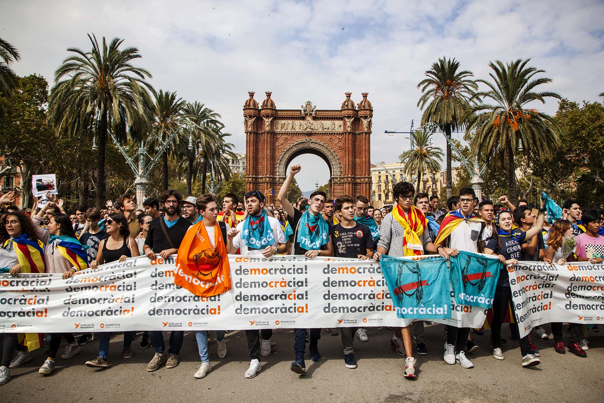 demonstration for independence in Barcelona