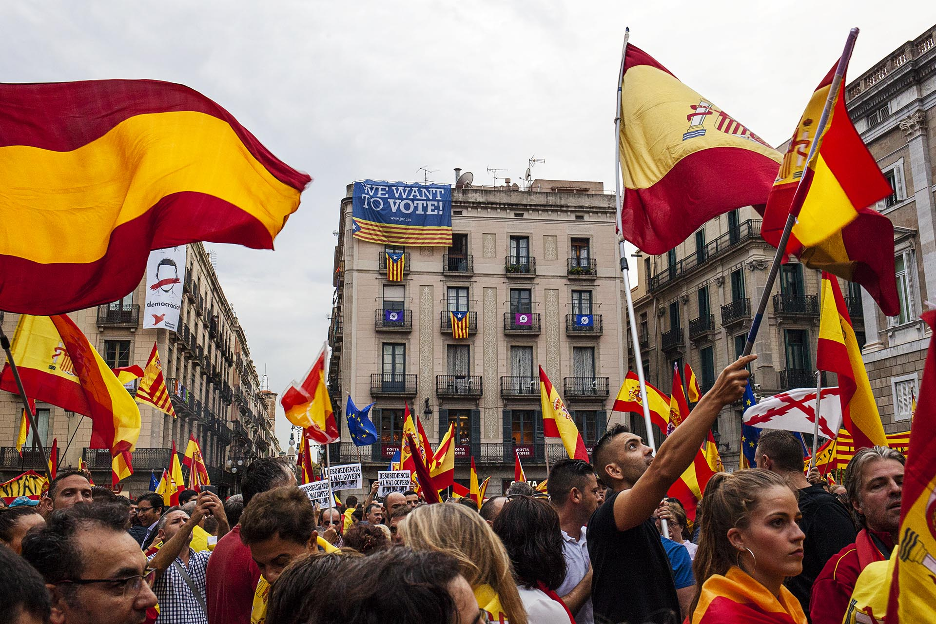 Unionist demonstration in Barcelona